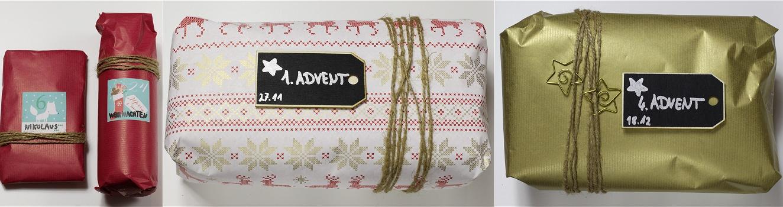 Adventskalender aus Geschenkschachteln Anleitung 6