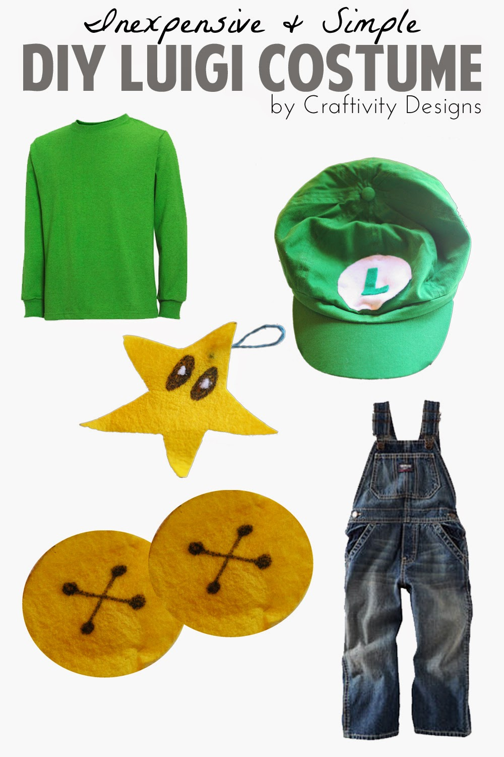 luigi costume simple inexpensive DIY craftivity designs