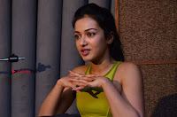 Actress Catherine Tresa Pos during Self Dubbing for Gautham Nanda Movie  0013.JPG