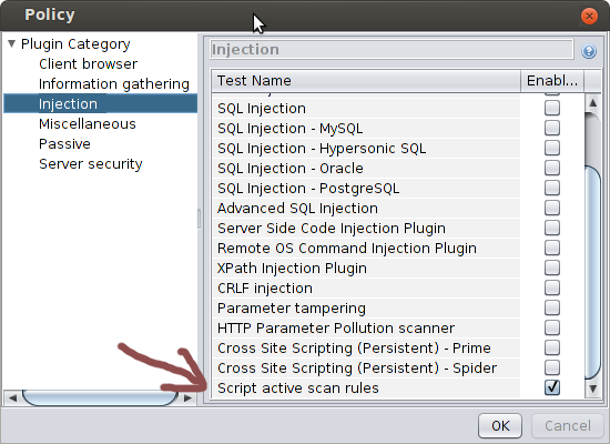Security, Engineering and Innovation: Active scan scripts