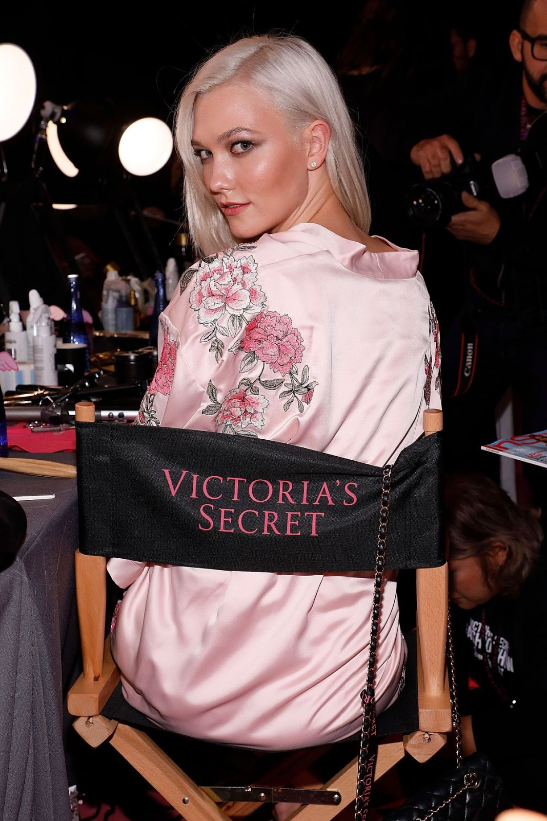 Karlie Kloss on the Backstage at 2017 Victoria's Secret Fashion Show in Shanghai