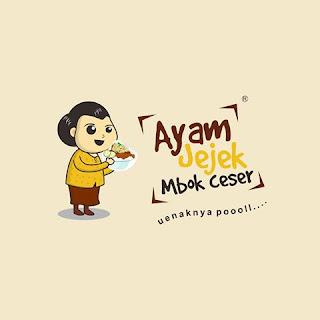Ayam Jejek Mbok Ceser Logo Maskot