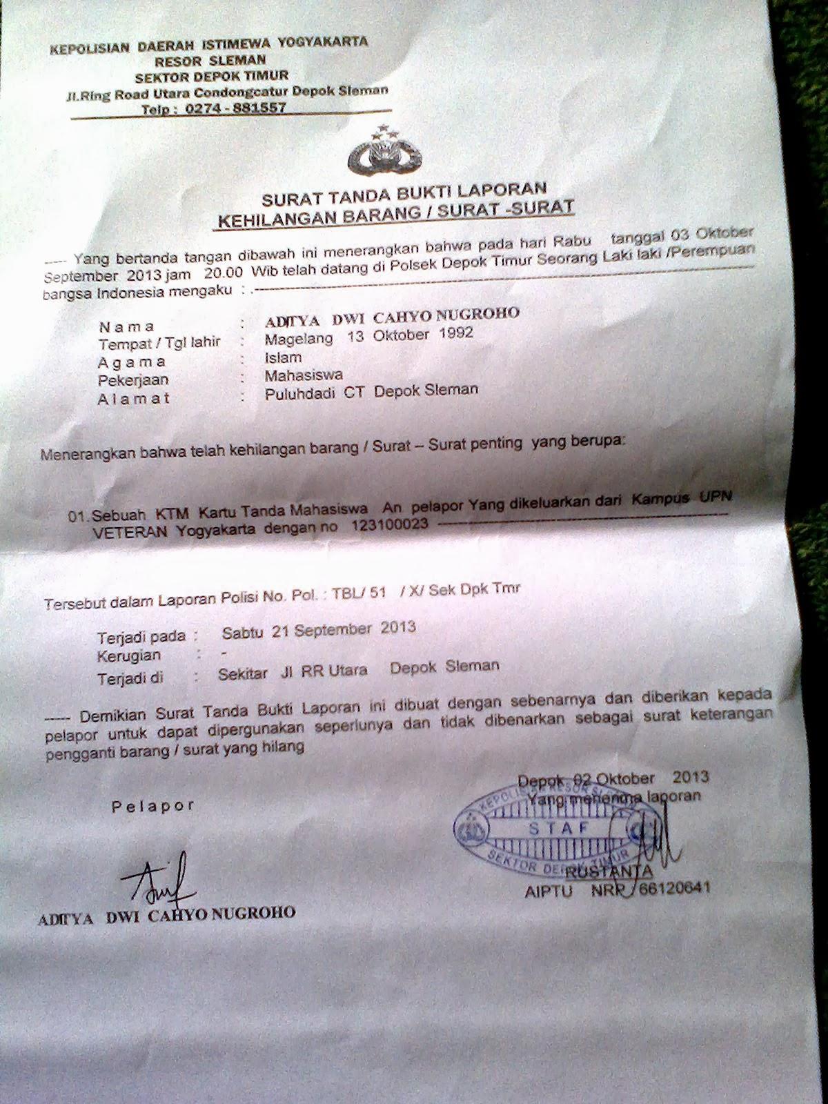 """Tata Cara Mengurus """"Kartu Tanda Mahasiswa"""" KTM UPN Yang ..."""