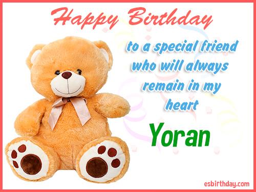 Yoran Happy birthday friend