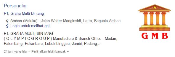 Informasi Lowongan Kerja PT. Graha Multi Bintang Terbaru 2019