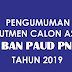 Pengumuman Rekrutmen Calon Asesor BAN PAUD PPNF 2019