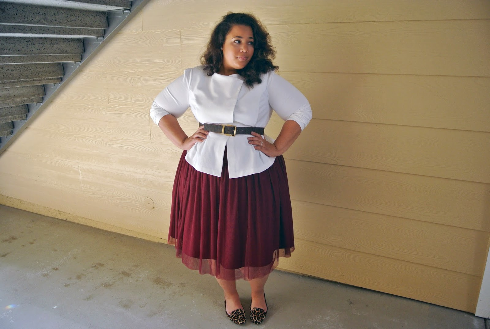 GwynnieBee, Plus Size Ballerina skirt, one item 3 ways