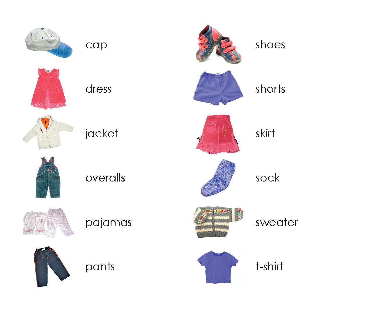 Clothes Names Worksheet