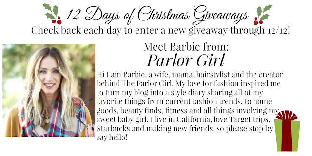 parlor girl 12 days of christmas giveaways