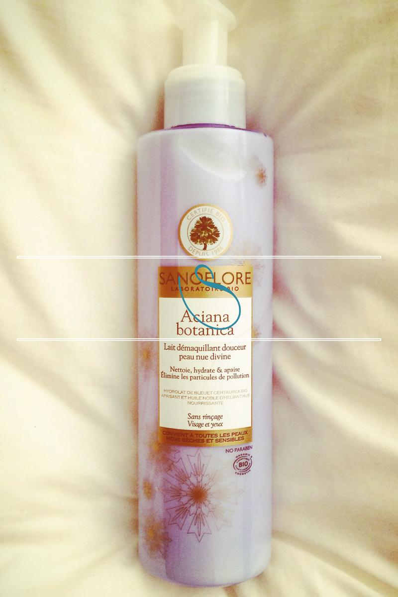#Skincare | Nude skin with Sanoflore | Peau nue avec Sanoflore | Lait démaquillant douceur Aciana botanica
