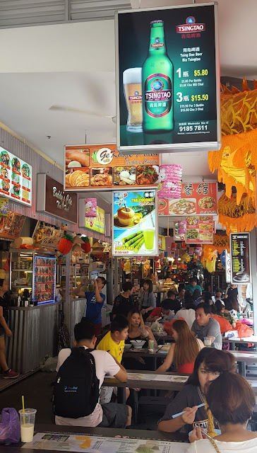 Bugis Street - Food Court with some people eating