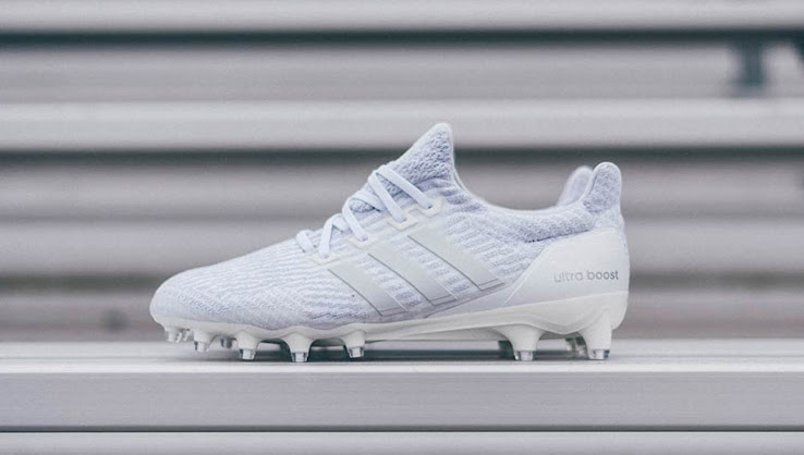 1b2102175 Adidas Ultra Boost Cleat - Triple White. This image shows ...