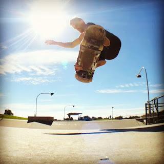 Mark Jansen Skateboarding Adelaide Air Grab
