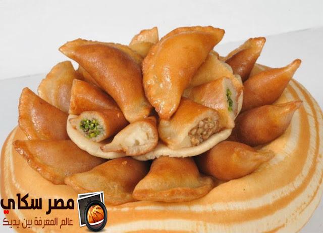 القطايف بأنواعها بالمكسرات والكريمة وخطوات التحضيرAlktaev with nuts