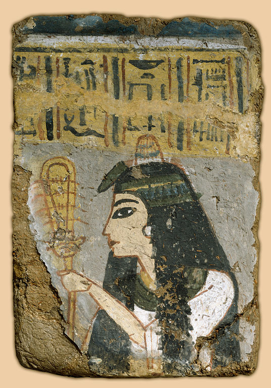 Wall Painting, Woman Holding a Sistrum