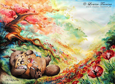 Artist Spotlight: My Neighbor Totoro by Louise Terrier