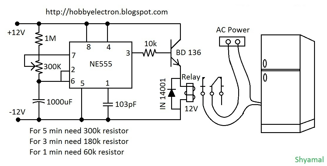 Hobby In Electronics Freeze Protector Circuit