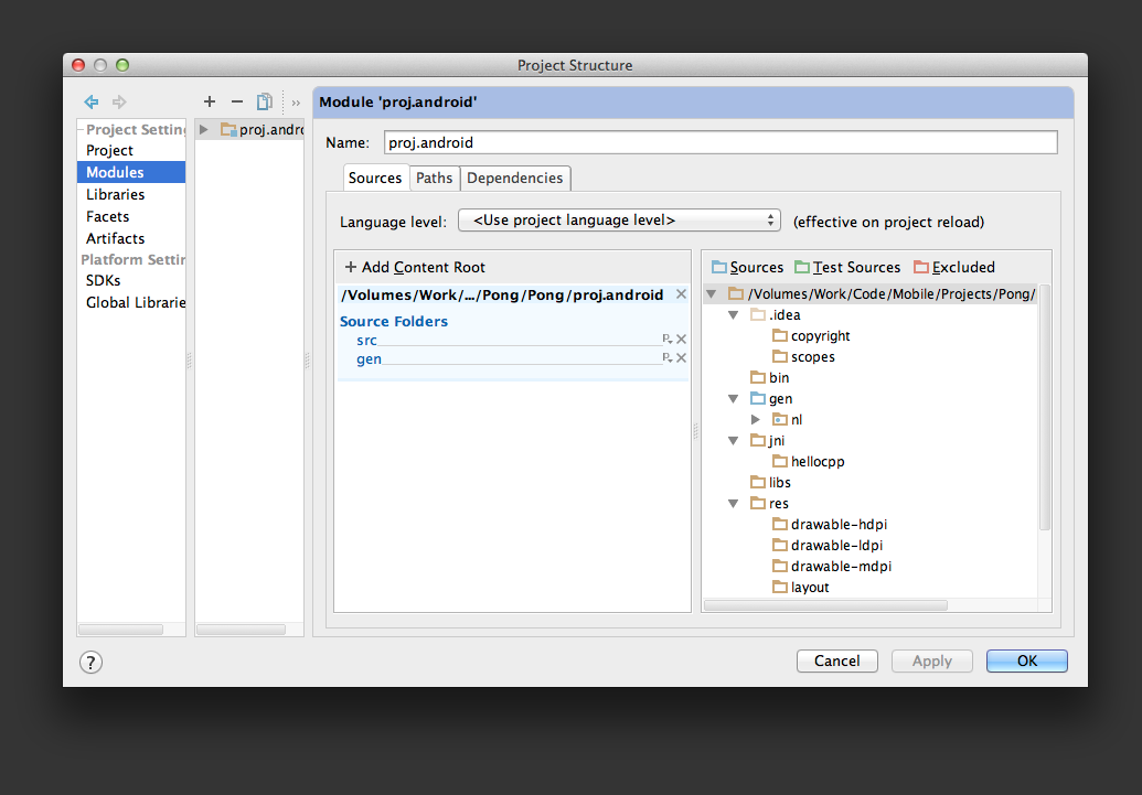 Piraya Blog: Cocos2d-x for iOS and Android with IntelliJ