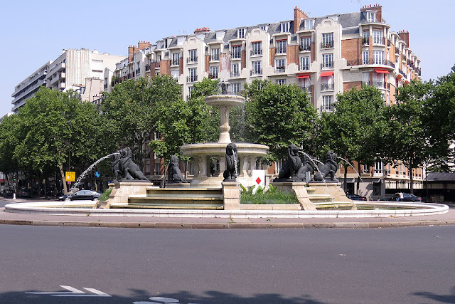 Fontaine du Château d'eau by Gabriel Davioud, Place Félix-Éboué, Paris
