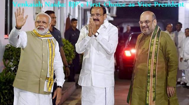Venkaiah Naidu: BJP's First Choice as Next Vice President of India, Facts