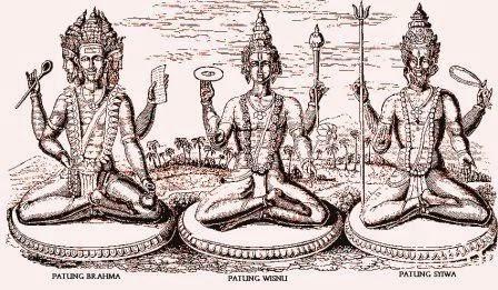 Sejarah : Sejarah Agama Hindu : Patung Brahma, Patung Wisnu, Patung Syiwa
