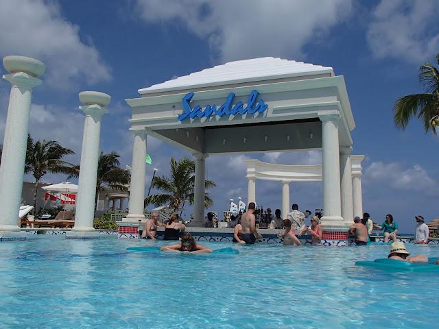 Sandals activities pool