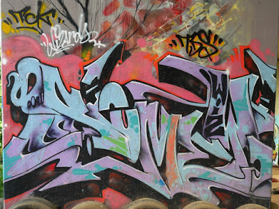 Neerpede - Legal graffiti walls in Anderlecht (Brussels, Belgium)