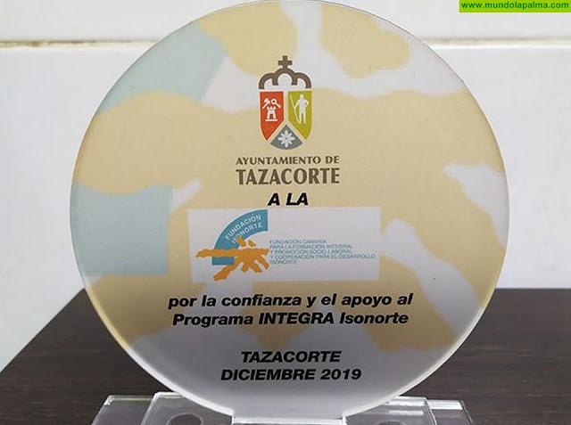 Tazacorte reconoce la labor de Isonorte en la integración de 20 personas del municipio