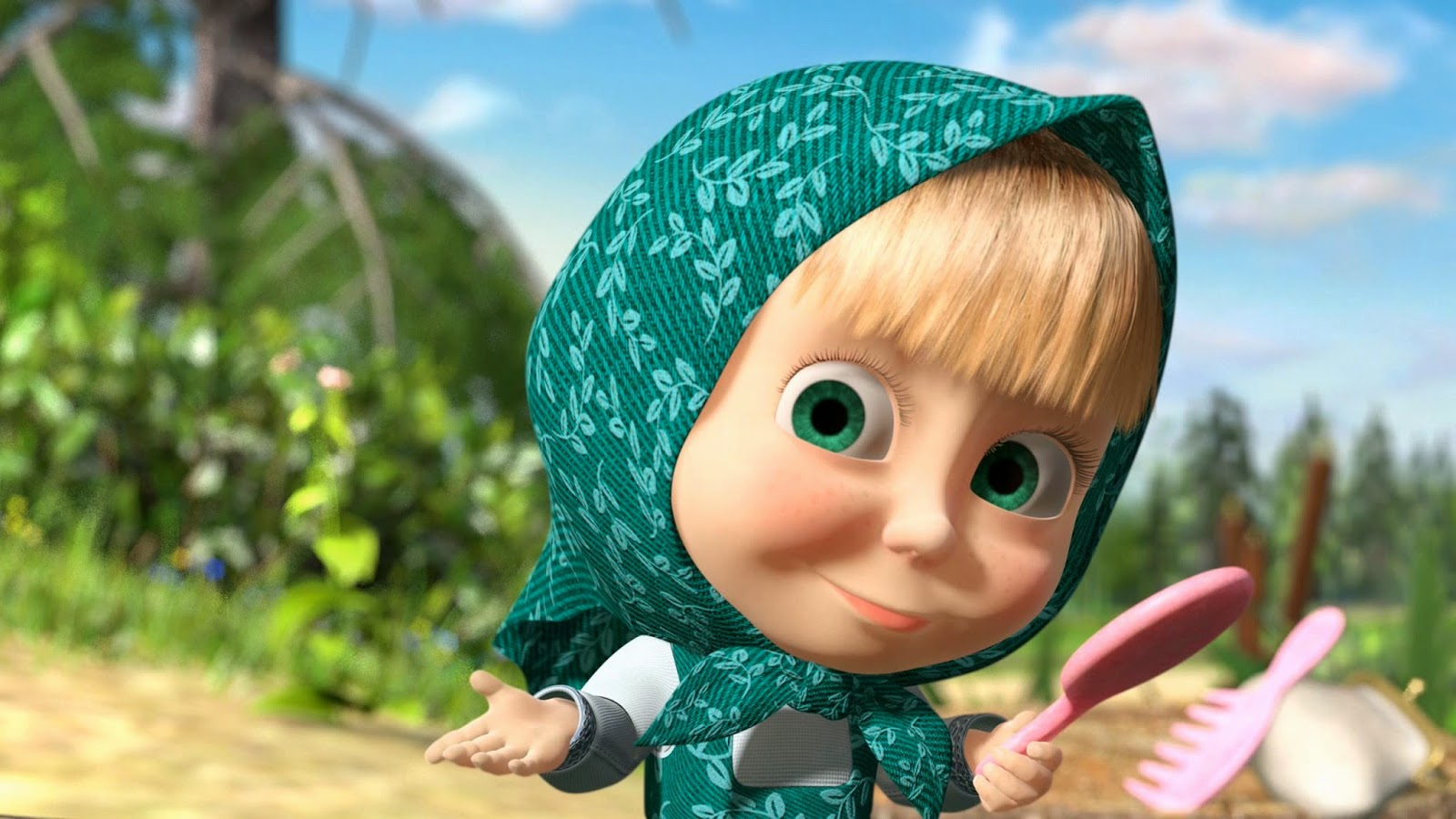 Wallpaper Masha and The Bear Lucu