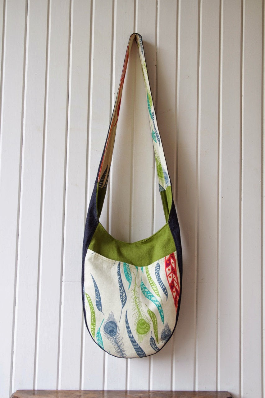 e11b6ecc4009 Blue Calla - Adventures in Sewing  Pattern Review  India Hobo Bag