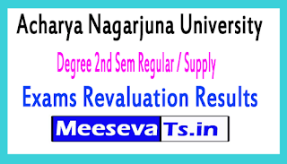 Acharya Nagarjuna University Degree 2nd Sem Regular / Supply Exams Revaluation Results