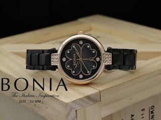 Jam Bonia hitam gold