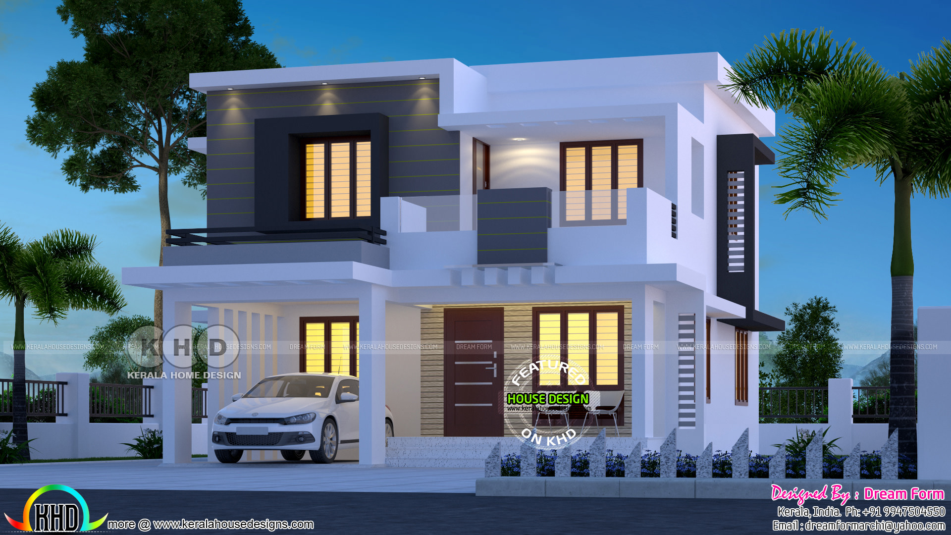 flat roof home - 38+ Small Box Type House Design With Floor Plan  Background