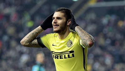 Mauro Icardi celebrating a goal