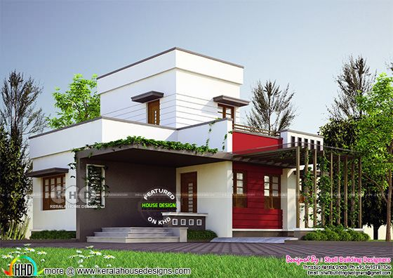 883 square feet 2 bedroom contemporary low cost home