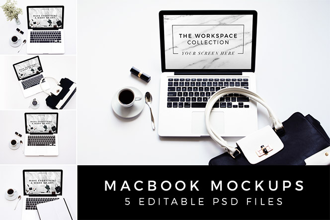 Elegant Macbook Mockups - Design Love Shop