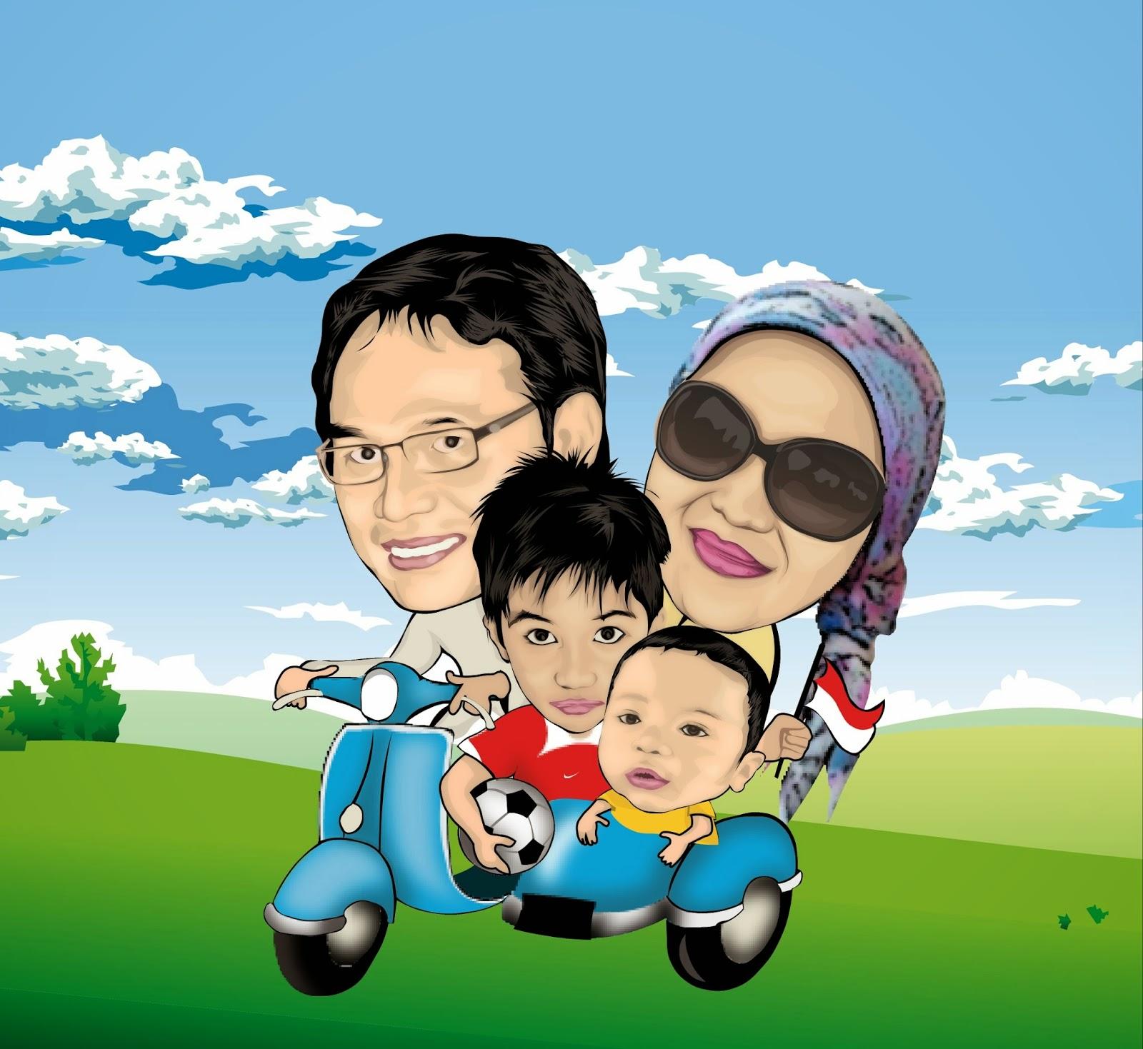 Gambar Lucu Kartun Keluarga