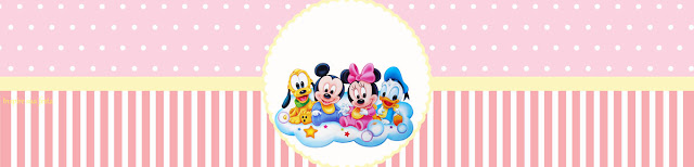 Bebés Disney en Rosa: Etiquetas para Candy Bar para Imprimir Gratis.
