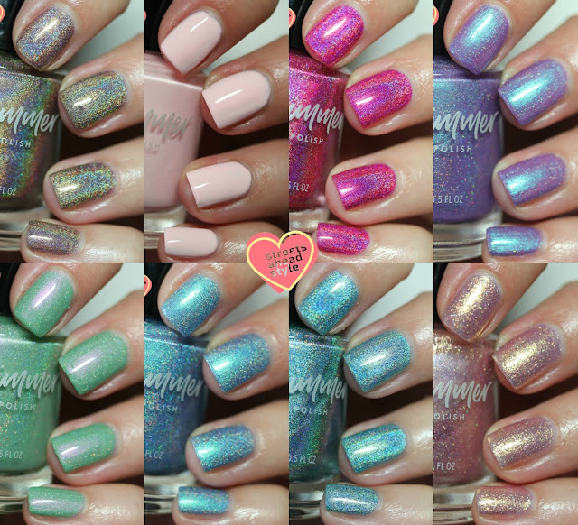 KBShimmer Summer 2018 Wanderlust Collection swatches by Streets Ahead Style