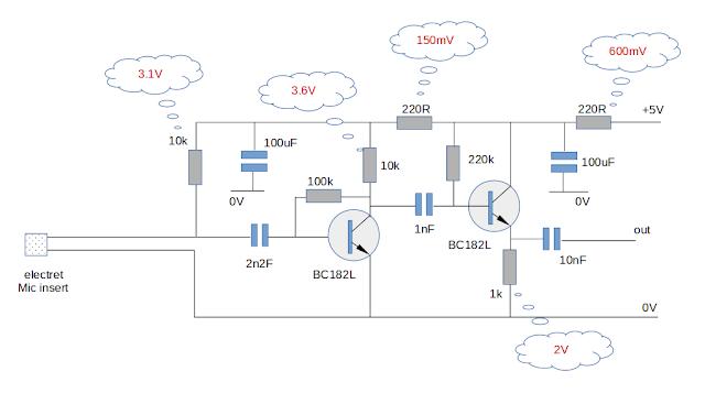 audio ultrasonic electret mi preamp