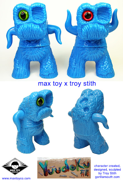 Troy Stith x Max Toy Co Blue Unpainted Yuudoku Vinyl Figure