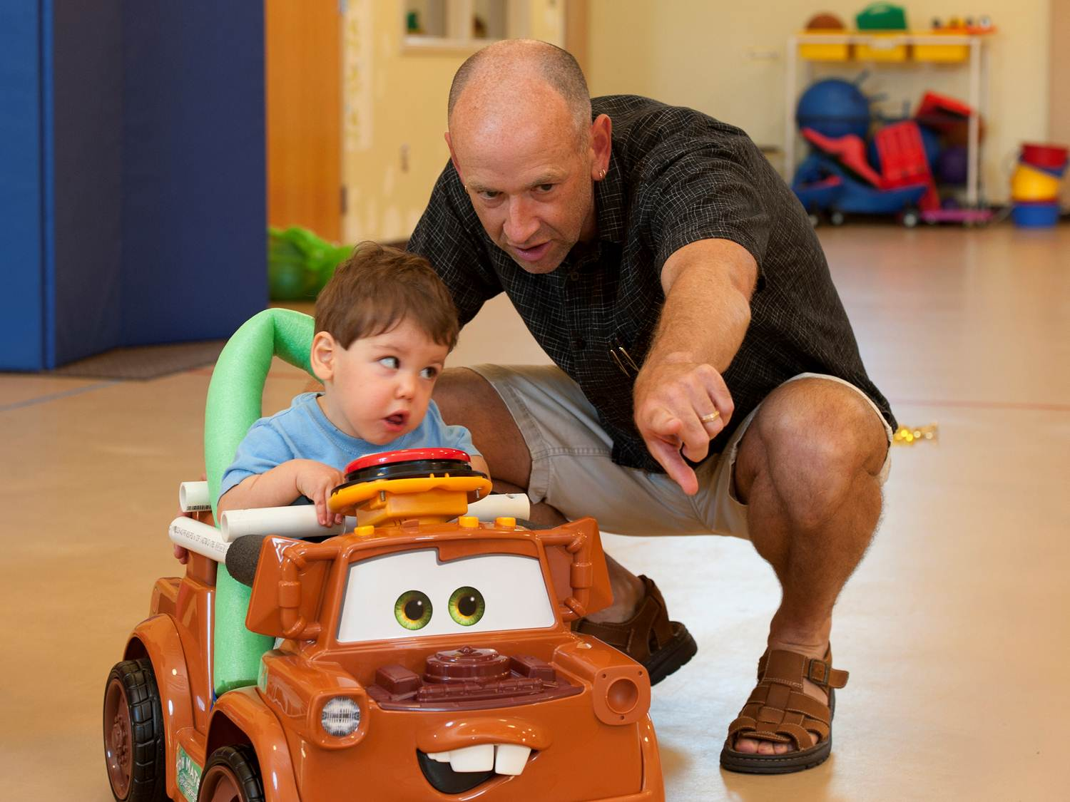 Toys For Spina Bifida : A scientist works with toy maker to get disabled kids