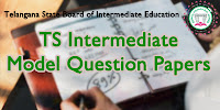 Telangana Intermediate Model Paper 2019 - ts inter model question paper