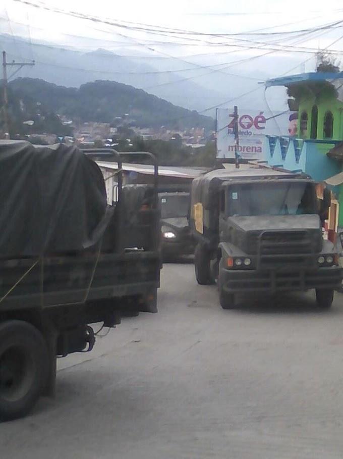 Ingresa ejército a Chalchihuitan.