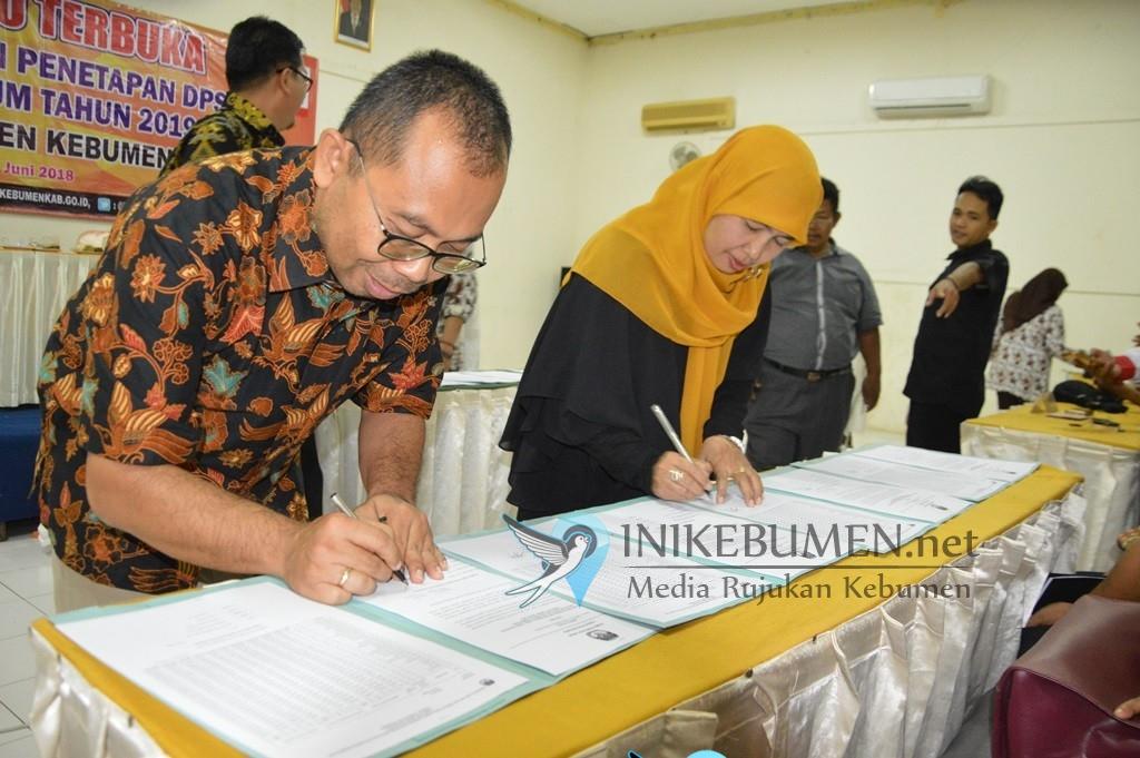 Gelar Pleno, Segini Jumlah DPS Pemilu 2019 yang Ditetapkan KPU Kebumen