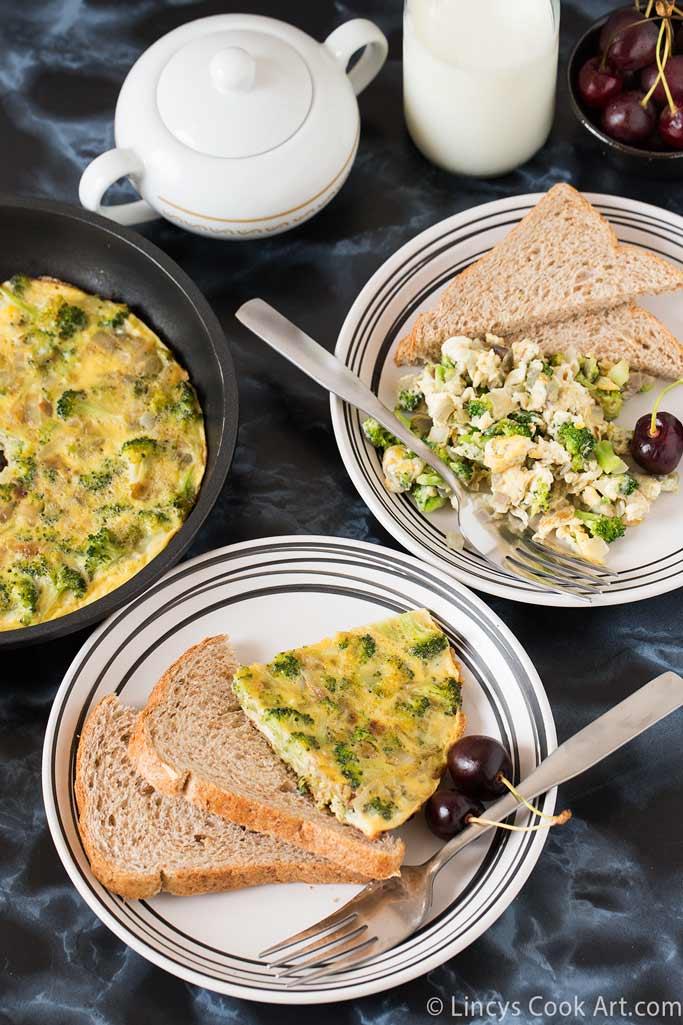Broccoli scrambled eggs recipe