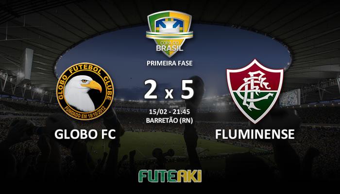 Veja o resumo da partida com os gols e os melhores momentos de Globo FC 2x5 Fluminense pela Primeira Fase da Copa do Brasil 2017.