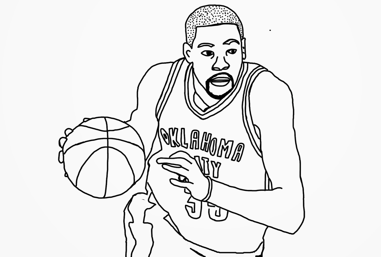 russell westbrook coloring page