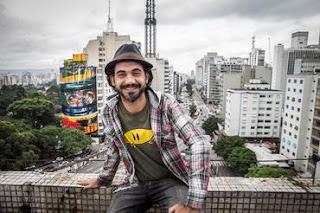 """Mural """"A Lenda do Brasil"""" pintado por Eduardo Kobra em SP no ano passado"""