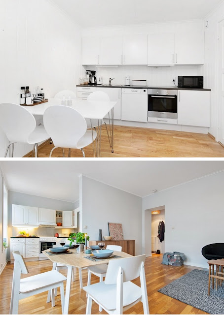 cocina blanca, cocina nordica y moderna